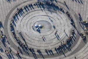 Aerial view from Karlsplatz in Munich - Klaus Leidorf Aerial Photography