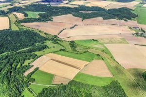 Aerial view from the Green Belt between Neuseesen (Hesse) and Bornhagen (Thuringia) - Klaus Leidorf Aerial Photography