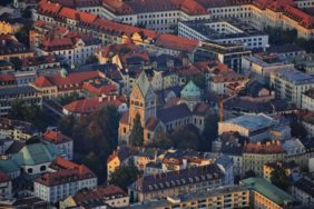 Aerial view of Munich-Lehel - Klaus Leidorf Aerial Photography