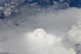 Aerial view of a cloud formation north of Kisangani in the Democratic Republic of the Congo - Klaus Leidorf Aerial Photography