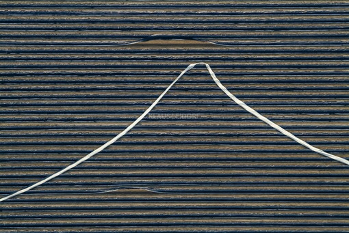 Aerial view of an asparagus field on which the wind has blown away one of the foils. - Klaus Leidorf Aerial Photography
