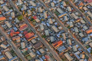 Aerial view of the Diepkloof settlement in Johannesburg, South Africa - Klaus Leidorf Aerial Photography