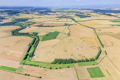 Aerial view of the Green Belt between Lower Saxony and Thuringia - Klaus Leidorf Aerial Photography
