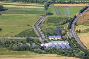 Aerial view of the Münchnerau industrial estate - Klaus Leidorf Aerial Photography