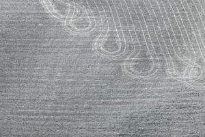 Aerial view of tractor tracks on a cultivated field - Klaus Leidorf Aerial Photography