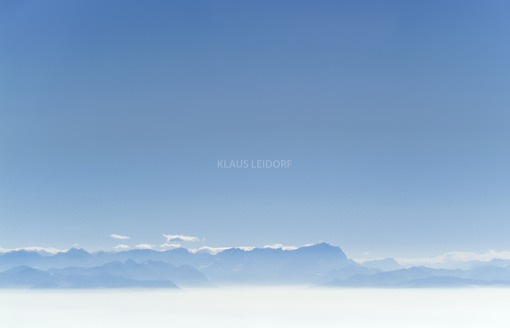 Aerial view of the Alps panorama with Zugspitze in blue haze - Klaus Leidorf Aerial Photography