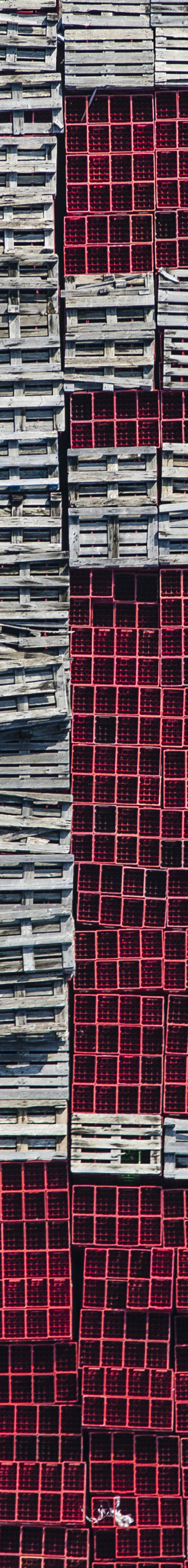 Aerial view of the storage area for beverage crates next to a brewery - Klaus Leidorf Aerial Photography