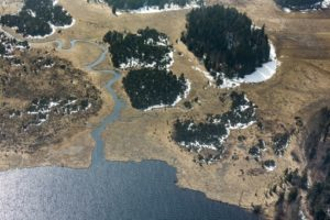Aerial view of the nature reserve Kirchseefilzen - Klaus Leidorf Aerial Photography