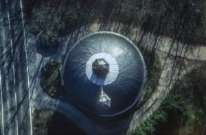 Aerial view from the circular roof of the Gaibach Chapel - Klaus Leidorf Aerial Photography