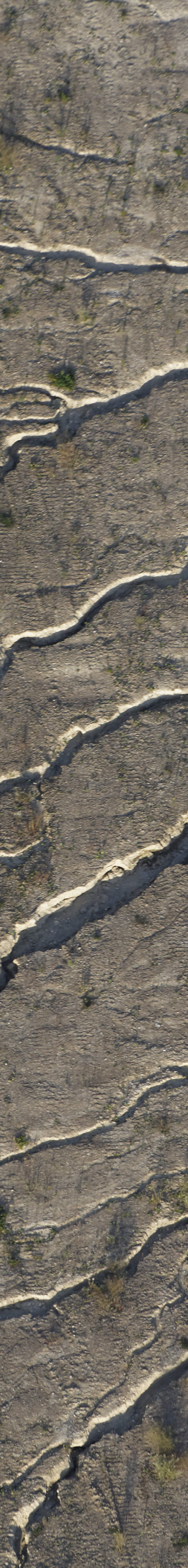 Aerial view of traces of erosion - Klaus Leidorf Aerial Photography