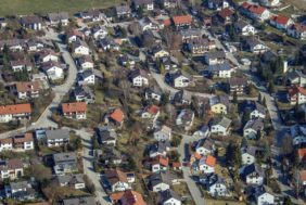 Aerial view of Buch am Erlbach, Einbergsiedlung - Klaus Leidorf Aerial Photography
