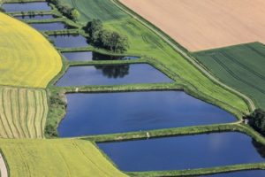 Aerial view of fish ponds near Namsenbach - Klaus Leidorf Aerial Photography