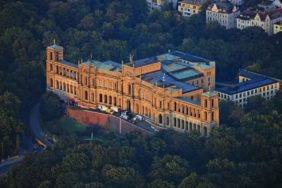 Aerial view of the Maximilianeum in Munich - Klaus Leidorf Aerial Photography