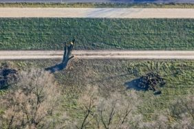 Aerial view of the restoration measures at the flood protection Bad Abbach - Klaus Leidorf Aerial Photography