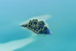 Aerial view of the Steigerinsel in the Great Easter Lake - Klaus Leidorf Aerial Photography