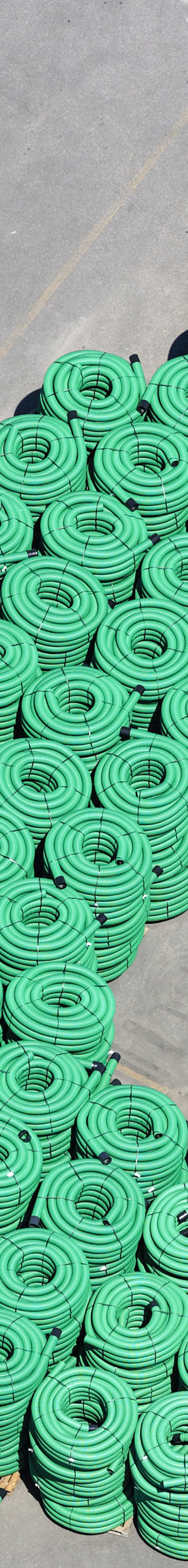 Aerial view of a storage area for plastic pipes made of polyethylene - Klaus Leidorf Aerial Photography