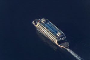 Aerial view of a car ferry on Lake Constance between Meersburg and Constance - Klaus Leidorf Aerial Photography