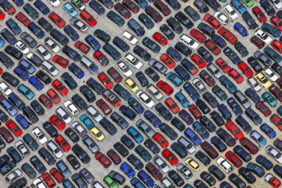 Aerial view of a car recycling company - Klaus Leidorf Aerial Photography