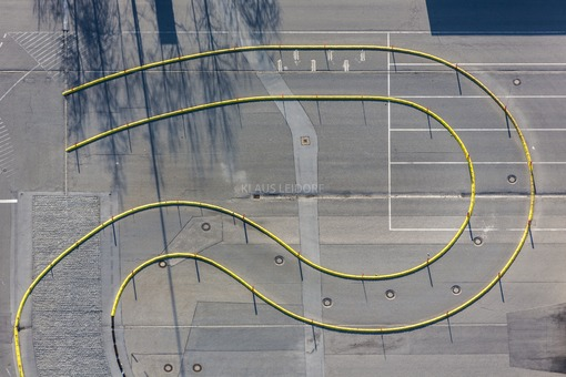 Aerial view of a short test track in the car factory - Klaus Leidorf Aerial Photography