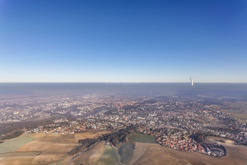 Aerial view of a panoramic view with horizon from Landshut - Klaus Leidorf Aerial Photography