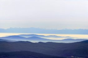 Aerial photo with the view from the Bavarian Forest to the Alps - Klaus Leidorf Aerial Photography