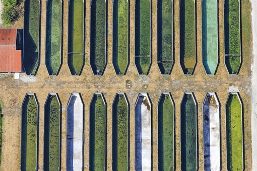 Aerial view of the Bavarian State Office for Water Research in Wielenbach near Weilheim - Klaus Leidorf Aerial Photography