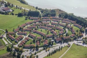 Aerial view of the holiday village Hochbergle near Lechbruck - Klaus Leidorf Aerial Photography