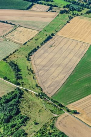 Aerial view of the Green Belt between Duderstadt in Lower Saxony and Ecklingerode in Thuringia at the West-East Gate - Klaus Leidorf Aerial Photography