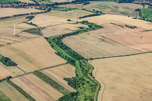 Aerial view of the Green Belt between Tettenborn (Lower Saxony) and Mackenrode (Thuringia) - Klaus Leidorf Aerial Photography