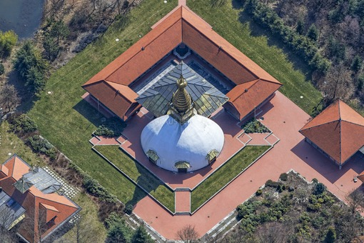 Aerial view of the Nepal Himalaya Pavilion in Bavaria - Klaus Leidorf Aerial Photography
