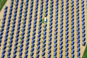 Aerial view of the solar field Hebertsfelden-March - Klaus Leidorf Aerial Photography