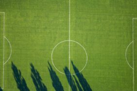 Aerial view of the sports field in Munich-Neuaubing - Klaus Leidorf Aerial Photography