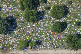 Aerial view of the lido Spessartblick - Klaus Leidorf Aerial Photography