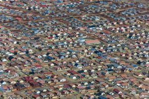 Aerial view of Soweto-Doornkop - Klaus Leidorf Aerial Photography