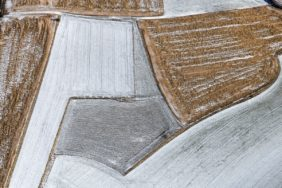 Aerial view of winter fields - Klaus Leidorf Aerial Photography
