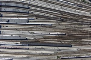 Aerial view of the tracks at Munich Central Station - Klaus Leidorf Aerial Photography