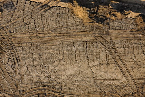 Aerial view of the construction site in the south of Viecht - Klaus Leidorf Aerial Photography