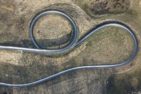 Aerial view of the toboggan run at the Voglsam Adventure Park - Klaus Leidorf Aerial Photography