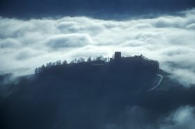 Aerial view of the Giechburg above the fog - Klaus Leidorf Aerial Photography