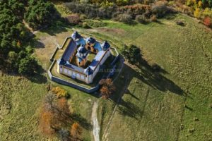 Aerial photo of the chapel Anděla Strážce near Sušice in Czech Republic - Klaus Leidorf Aerial Photography