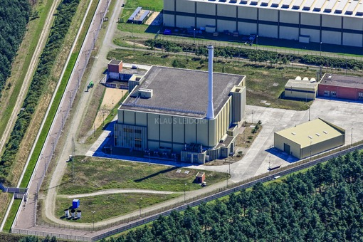 Aerial photograph of the planned final repository for nuclear waste near Gorleben - Klaus Leidorf Aerial Photography
