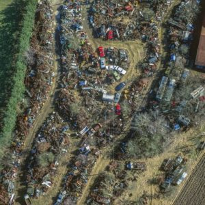 Aerial view of a scrap yard - Klaus Leidorf Aerial Photography