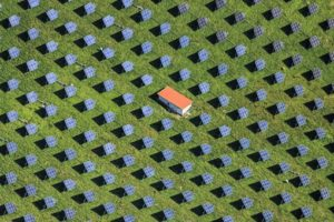 Aerial view of a solar field - Klaus Leidorf Aerial Photography
