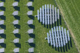 Aerial view of a solar field near Thyrnau-Raßbach - Klaus Leidorf Aerial Photography