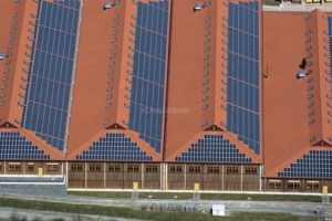 Aerial view of a solar power plant in Parkstetten - Klaus Leidorf Aerial Photography