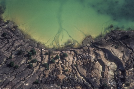Aerial view of an old coal mining landfill near Wackersdorf - Klaus Leidorf Aerial Photography