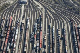 Aerial view of Munich North marshalling yard - Klaus Leidorf Aerial Photography