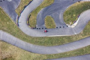 Aerial view of the go-kart track at the Voglsam Adventure Park - Klaus Leidorf Aerial Photography