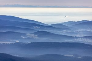 Landscape panorama from the Bavarian Forest to the Alps with the smoking sugar factory near Plattling - Klaus Leidorf Aerial Photography