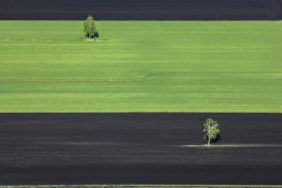 Aerial view of the Donaumoos agricultural landscape near Königsmoos - Klaus Leidorf Aerial Photography